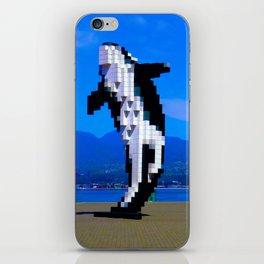 Pixelated Whale iPhone Skin