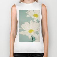 daisy Biker Tanks featuring DAISY  by Laura Ruth