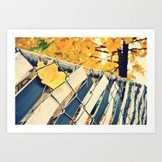 stuck in fall Art Print