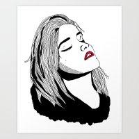 sky ferreira Art Prints featuring Sky Ferreira by BUGS