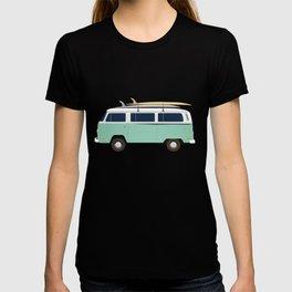 Summer surf bus pattern T-shirt