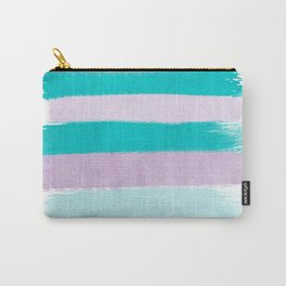 Painted stripes minimal brushstrokes nursery home decor modern canvas art Carry-All Pouch