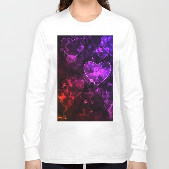 Love.  Abstract pattern with hearts. Long Sleeve T-shirt