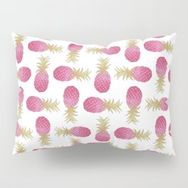 Ombre Pink Illustrated Pineapple Pillow Sham