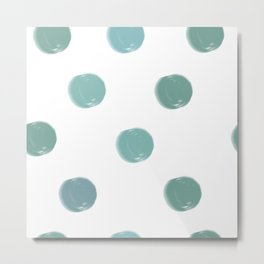 Abstract Modern Art 5 Teal Spots Metal Print