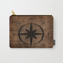 Nostalgic Old Compass Rose Carry-All Pouch