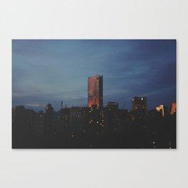 vancouver west end dusk Canvas Print