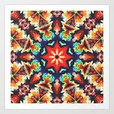 Ornate Mandala Motif Art Print