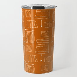 Tribal Arrows and Squares, Primitive Pattern Travel Mug