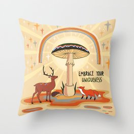 Embrace your uniqueness Throw Pillow