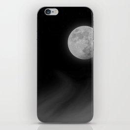 Moon Sky // La Luna in the Dark Night Clouds Stars Full Glowing Dream Like Fantasy iPhone Skin