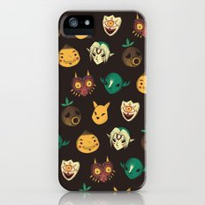 pattern of masks.  iPhone (5, 5s) Slim Case