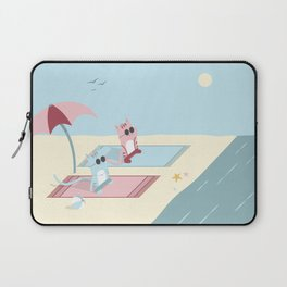 Traveling Tabbies: Let's Go to the Beach Laptop Sleeve