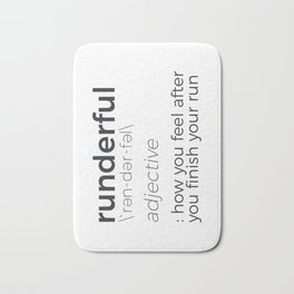 Adrenaline Rush Runner's High Running Is Life Run Design Bath Mat
