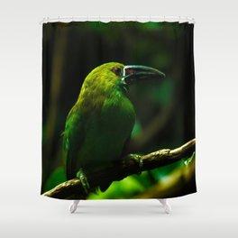 Deep Green Shower Curtain