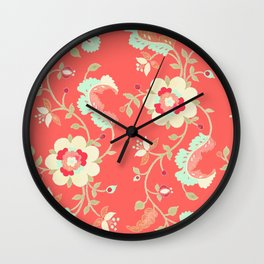 coral adrienne Wall Clock