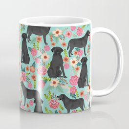 Labrador Retriever black lab floral dog breed gifts pet patterns florals black labs Coffee Mug