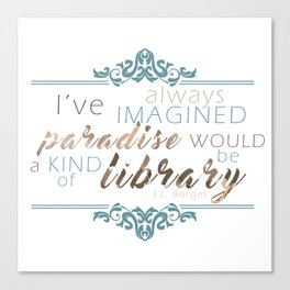 Paradise = Library Canvas Print