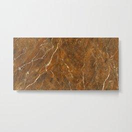 Luxury brown marble texture Metal Print
