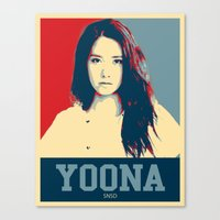 snsd Canvas Prints featuring Yoona SNSD Hopeless Design by Timeless-Id
