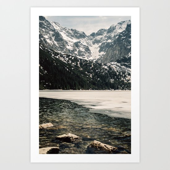 Morskie Oko In Snow Art Print
