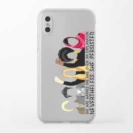 Nevertheless, She Persisted. Clear iPhone Case