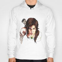 tomb raider Hoodies featuring Tomb Raider: The Survivor by Dale Dupre