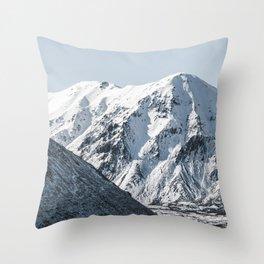 Mountain Lake Winter Throw Pillow