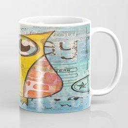 Owl In Blue Coffee Mug