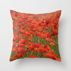 Red poppies 1918 Throw Pillow