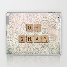 OH SNAP! Scabble Tile Wall Art Laptop & iPad Skin