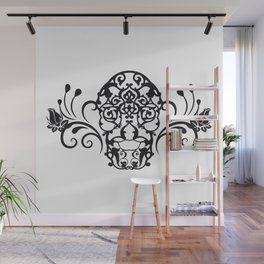 SKULL FLOWER 04 Wall Mural