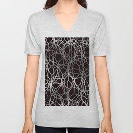 Pattern and Light black silver Unisex V-Neck