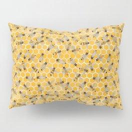 Bees on Honeycomb Pillow Sham