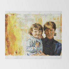 mother and child 1 Throw Blanket