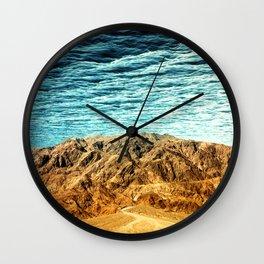 South of No North Wall Clock