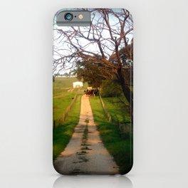 Herding Cattle iPhone Case