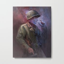 The Last Smoke Metal Print