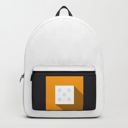 """Print Dice """"five"""" with long shadow in new modern flat design Backpack"""