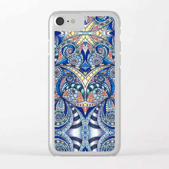 Drawing Floral Zentangle B7 Clear iPhone Case