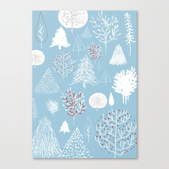 Christmas forest Canvas Print