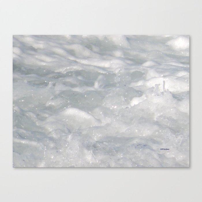TEXTURES: Laguna Beach Sea Foam #1 Canvas Print