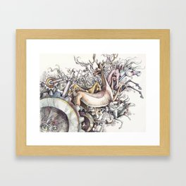 Twisted Menagerie Framed Art Print