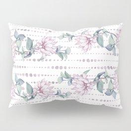 Pretty Succulent Rose Gold Striped Polka Dots Pillow Sham