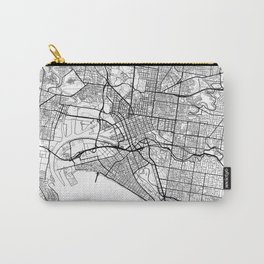 Melbourne Map White Carry-All Pouch