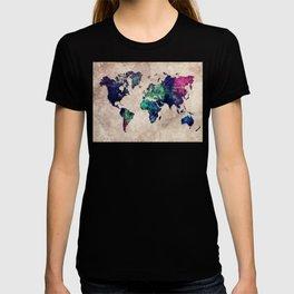 World map watercolor 1 T-shirt