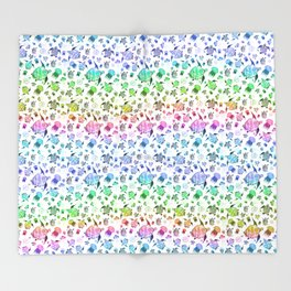 Ocean Life-Rainbow Palette Throw Blanket