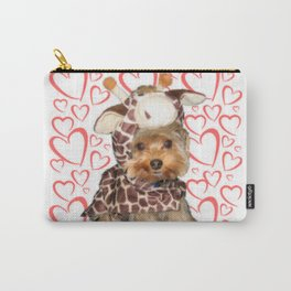 Dog Giraffe Costume | Yorkie with Hearts | Nadia Bonello Carry-All Pouch
