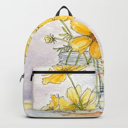 Yellow Cosmos, Still Life Backpack