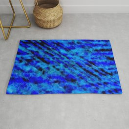 Color gradient and texture 23 dark blue Rug